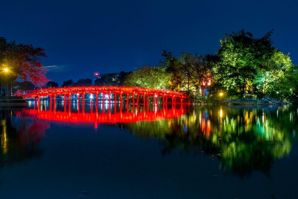 Lago Hoan Kiem lugar para visitar en 2 dias en Vietnam