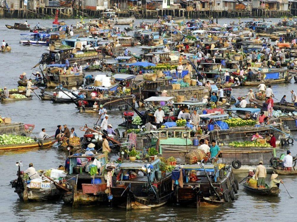Qué ver y visitar en Municipio de Can Tho, Mercados Flotantes